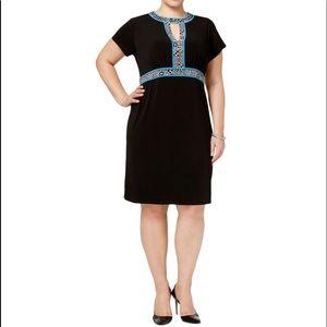 PLUS Michael Kors Black Print Dress